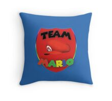 Team Mario Throw Pillow