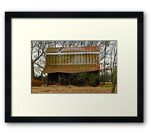 The Rusty Old Barn Framed Print