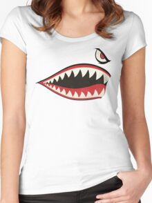 Flying Tigers Nose Art Women's Fitted Scoop T-Shirt