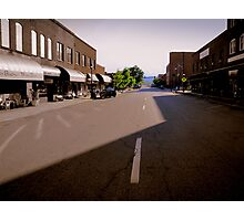 Staggering Street Shadow Photographic Print