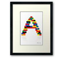 """A"" Framed Print"