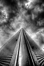 Tower to the Clouds-Black and White by Bob Larson