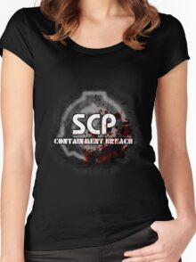 SCP Containment Breach Logo Women's Fitted Scoop T-Shirt