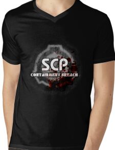 SCP Containment Breach Logo Mens V-Neck T-Shirt