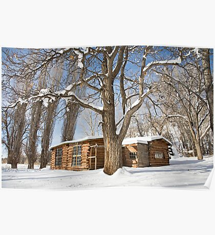 Josie's Cabin in Winter Poster