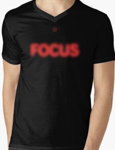 Focus Halftone Mens V-Neck T-Shirt