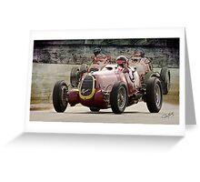 1935 Alfa Romeo Vintage Racecar Greeting Card