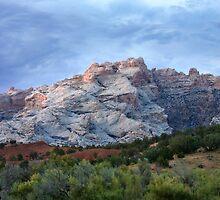 Last Glow on Split Mountain by Kim Barton