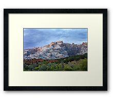 Last Glow on Split Mountain Framed Print