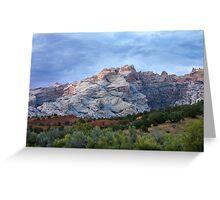Last Glow on Split Mountain Greeting Card