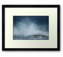 Wave caught in a nano second Framed Print