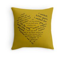 Quotes of the Heart - Amy/Rory (Black) Throw Pillow