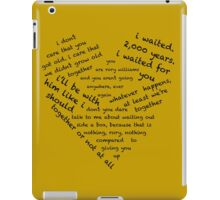 Quotes of the Heart - Amy/Rory (Black) iPad Case/Skin