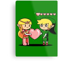 Fill my hearts zelda link ocarina heart container Metal Print