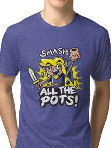 Smash Pots Zelda Link Tri-blend T-Shirt