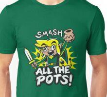 Smash Pots Zelda Link Unisex T-Shirt