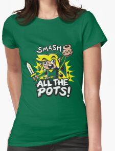 Smash Pots Zelda Link Womens Fitted T-Shirt