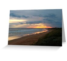 Visible Lines, 13th Beach, Australia Greeting Card
