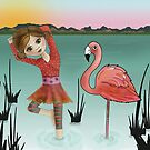 Doing Yoga... flamingo style! by Kristy Spring-Brown