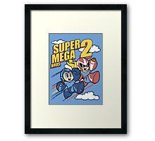 Super Mega Bros Megaman Protoman Framed Print