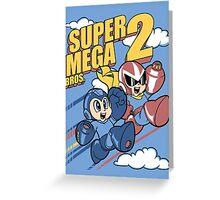 Super Mega Bros Megaman Protoman Greeting Card