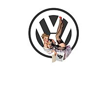 Volkswagen Pin-Up Chatty Cathy (gray) Photographic Print