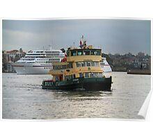 Fishburn approaching Circular Quay Poster