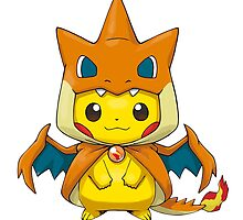 Mega Charizard Pikachu Y by Eat Sleep Poke Repeat