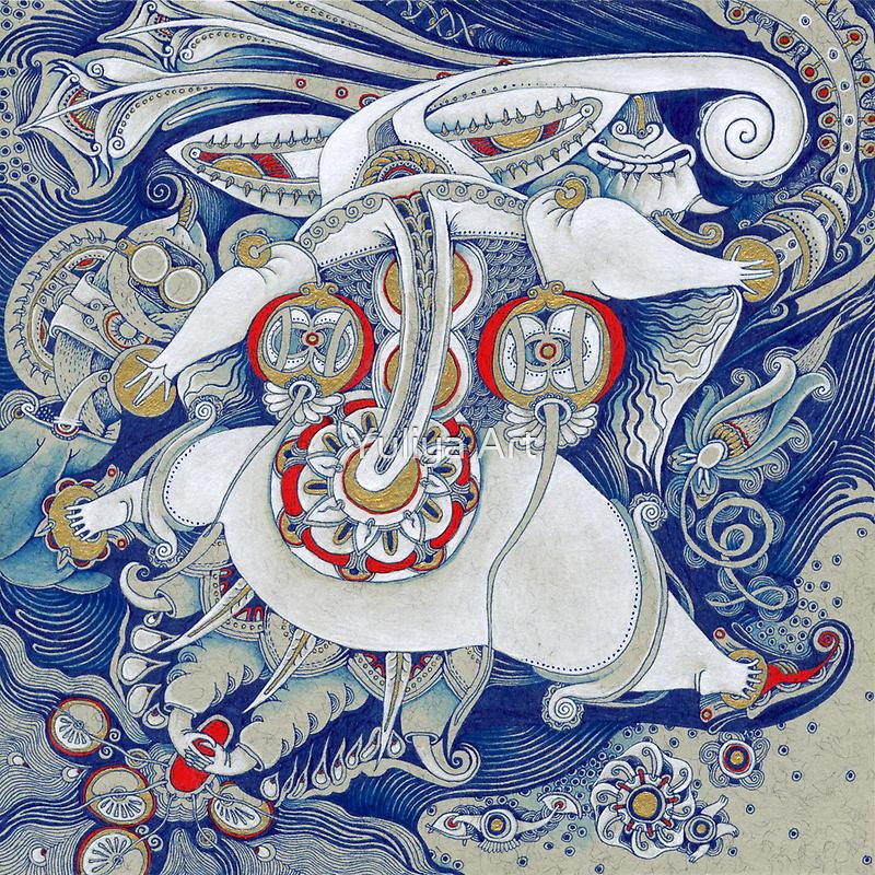 Flying Elephant by Yuliya Art