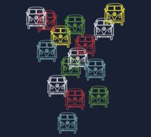 Multi Colour Campervan by Ra12