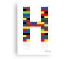 """""""H"""" Canvas Print"""
