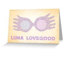 Luna Lovegood Spectrespecs Greeting Card