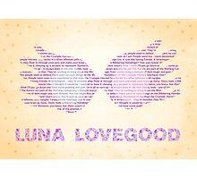 Luna Lovegood Spectrespecs Photographic Print