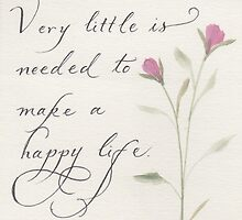 Inspirational handwritten quote calligraphy by Melissa Goza