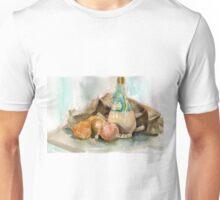 Onions, plonk and old potato sack... Unisex T-Shirt