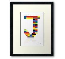 """""""J"""" Framed Print"""