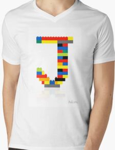 """J"" Mens V-Neck T-Shirt"