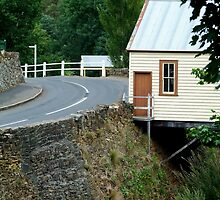 Walhalla Fire Station,over Stringers Creek by Joe Mortelliti
