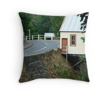 Walhalla Fire Station,over Stringers Creek Throw Pillow
