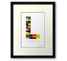 """""""L"""" Framed Print"""