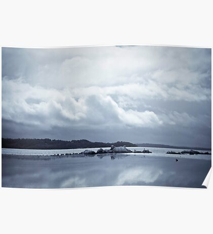 Grey Morning on the Inlet Poster