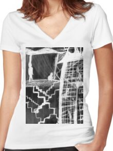 hysteria's staircase Women's Fitted V-Neck T-Shirt