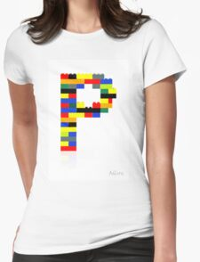 """P"" Womens Fitted T-Shirt"