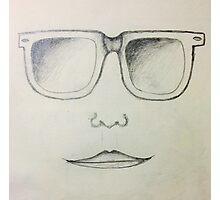 Sunglasses Face Photographic Print