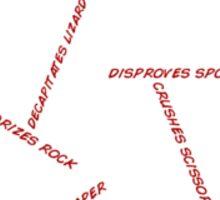 Rock Paper Scissors Spock Lizard Sticker