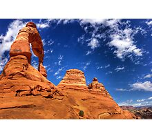 Delicate Arch in April Photographic Print