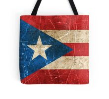 Vintage Aged and Scratched Puerto Rican Flag Tote Bag