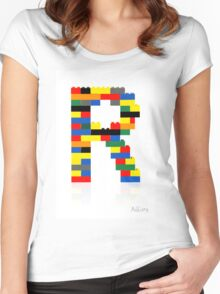 """""""R"""" Women's Fitted Scoop T-Shirt"""