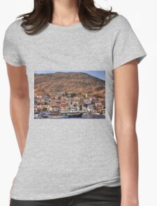 Ships in the Harbour Womens Fitted T-Shirt