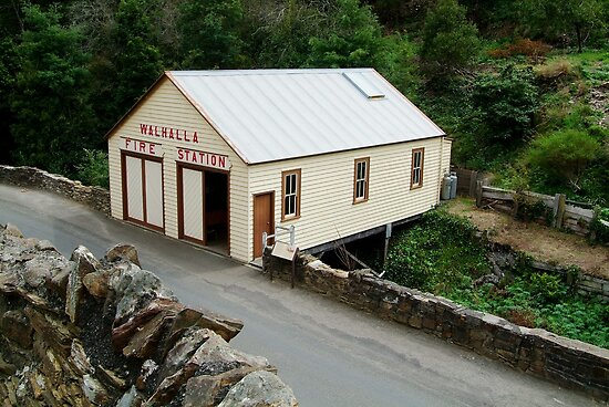 Walhalla Fire Station by Joe Mortelliti
